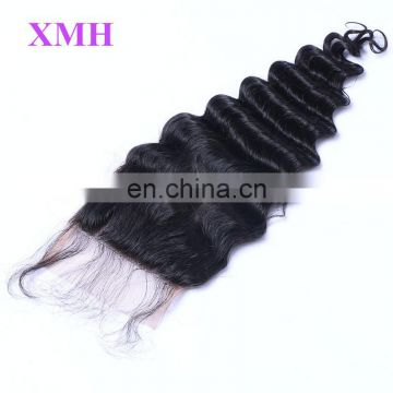 Brazilian Top Grade Unprocessed 100 Human Hair Cheap Wholesale Price 4*4 Lace Closure Deep Wave