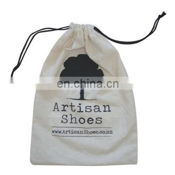 organic cotton drawstring bags/cotton fabric bag