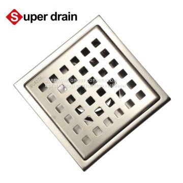 Stainless Steel Long Tile Insert Long Linear Shower Drain Floor