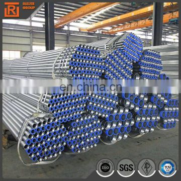 Zinc coated fence galvanized steel pipe, pre galvanised steel fence tube diameter 1.5 inch price per ton