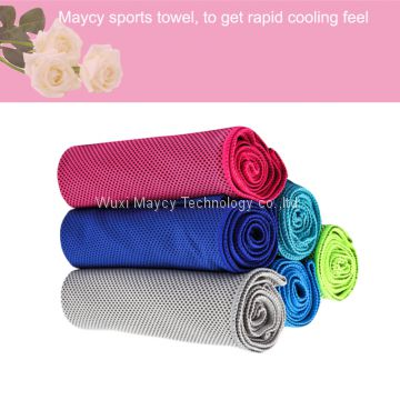 fashion microfiber summer wet sports cooling towel, OEM fitness face hand towel