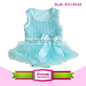 Wholesale children's boutique clothing baby girl's rose romper baby tutu romper                                                                         Quality Choice