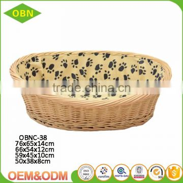 Wholesale handmade rattan cat basket natural wicker dog basket