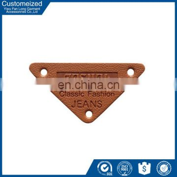 China factory small leather patch for clothing