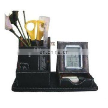 Promotional Leather Penholder Clock