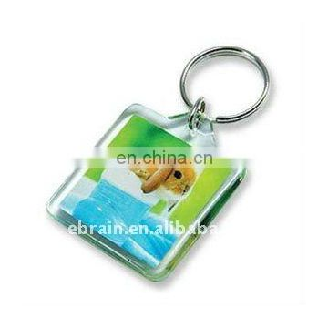 Square Plastick Keychain with Custom Printing