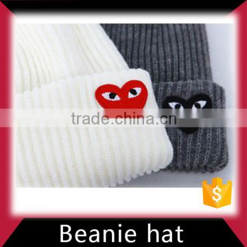 100% acrylic knitted beanie hat made in China