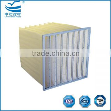 F5 F6 F7 F8 Extended surface synthetic bag filter roll media