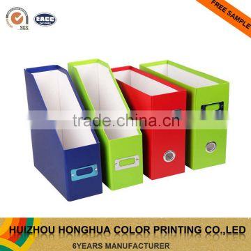 Customized Foldable Stationery Cardboard File Holder Box File ...