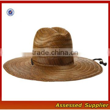 ... Australia Men Straw Lifeguard Hat With Adjustable String Summer UV  Protection Surf Straw Hat  ... 7d4c24a3919
