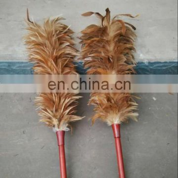 fast shipping natural color chincken feather duster from south Africa