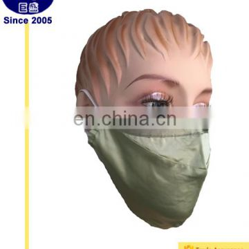 Silk Lady Oliver Green Air-filter Face Mask