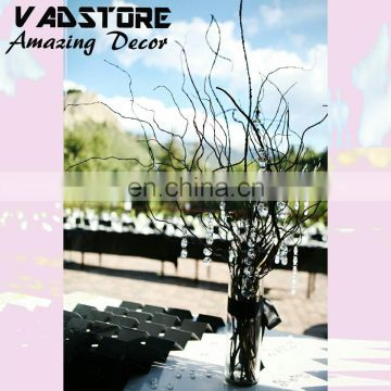 Real willow gold dry branches wedding table centerpiece tree without leaves