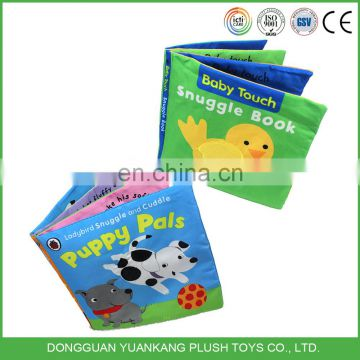 Wholesale colorful baby cloth book soft educational toys for kid