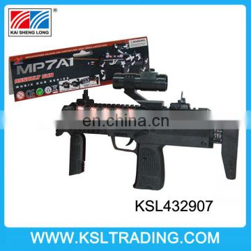 Most polular electric shooting laser sound gun sniper with light and music