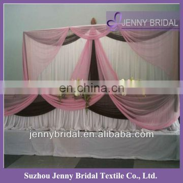 BCK015 2013 wedding chiffon and organza elegant backdrop