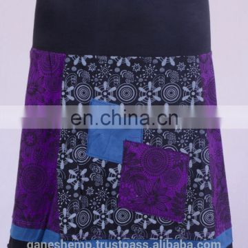 Bohemian Cotton Patchwork Mini Skirt HHCS 108 A