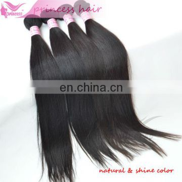 Straight Extension/Wig Silky Soft Natural Color 1b Can Dye Virgin Human Hair Weaving