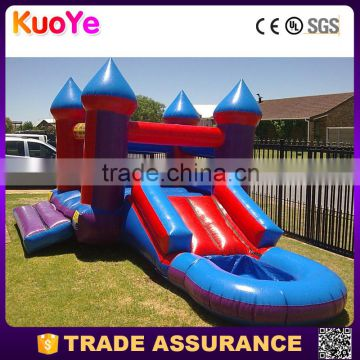 high quality 0.55mm PVC tarpaulin inflatable combo with slide and pool,inflatable bouncy castle for kids