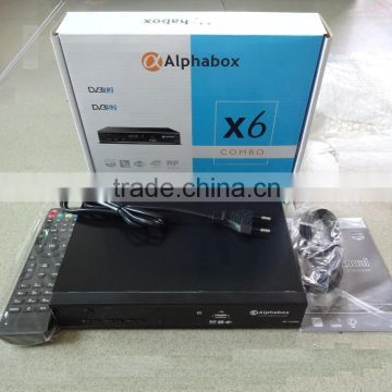 2016 For Ghana Alphabox X6 Combo powervu Autoroll powervu T2&S2