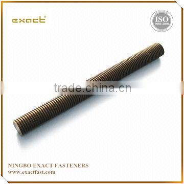 American hot saleA2 A4 stud bolt hollow thread rod A193 B7 DIN975 HDG PTFE with nut 2H with ISO m32 stud bolt