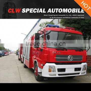dongfeng tianjin 6 cbm water tanker fire fighting truck with fire fighting guns