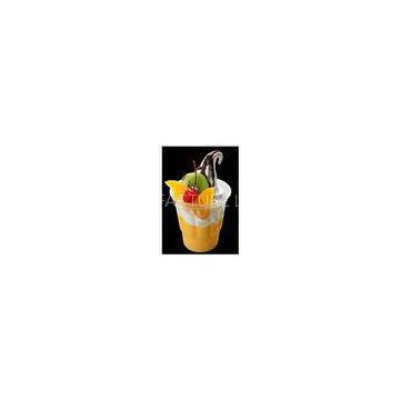 250ml Disposable Ice Cream Cups For Sundae / Ice Cream Container