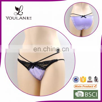 2015 New Arrival Wide Style Hot Girl Black Bowknot Little Girls Thongs Underwear