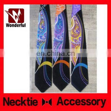 Customized promotional brown color man print necktie