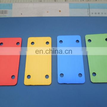custom rectangle colorful metal plate/personalized clothing plate with your logo