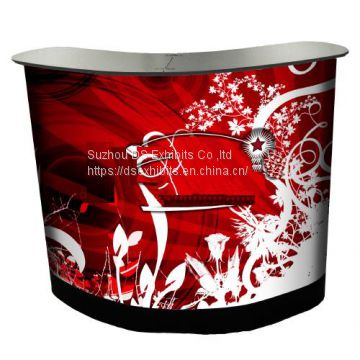 Pop up promotion table curved
