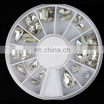 Wholesale popular bling nail product 3d nail rhinestone
