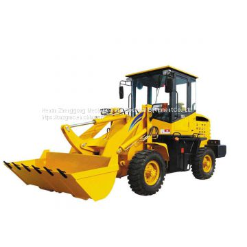 Loader wheel skid steer used as tractor loader