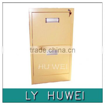 2 drawers colorful steel drawer cabinet with hand-clasping aluminum alloy