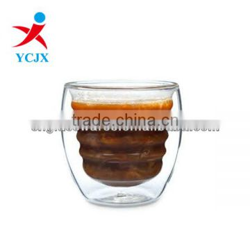 HIGH QUALITY DOUBLE WALL GLASS COFFEE CUPS