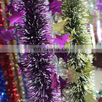 2014 new Iridescent tinsel ornaments for party decoration Christmas Decoration