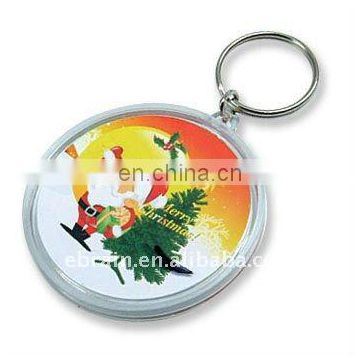 Merry Christmas Round Shaped Keychain