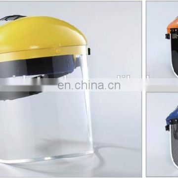 chemical safety face shield with clear visor