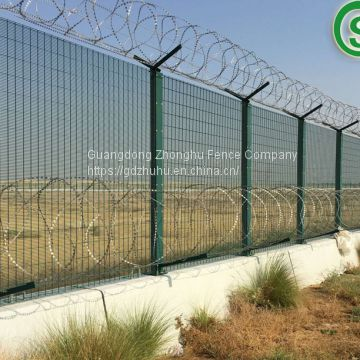 Strong anti climb 358 fencing design heavy welded wire mesh airport fence