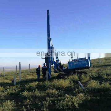 Hydraulic hammer pile driver, solar ramming machine for solar project