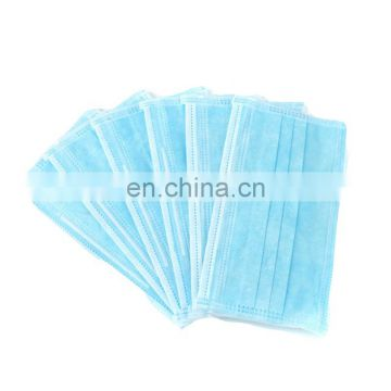 Factory Produced Disposable Blue Color 3 Ply Earloop Anti Virus Mouth Face Mask