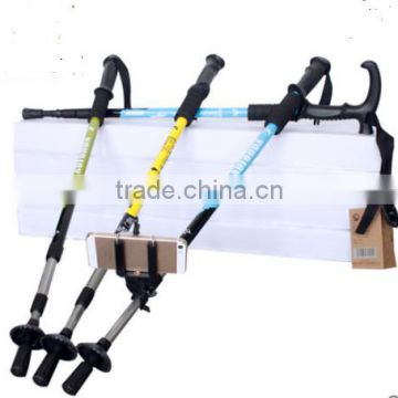 Hiking mountaineering outdoor ultralight trekking poles telescopic folding walking cane walking stick cane outdoor