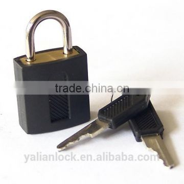 Hot Sale New Black Color Plastic Cover Brass Cylinder rubber cover abs shell iron padlock