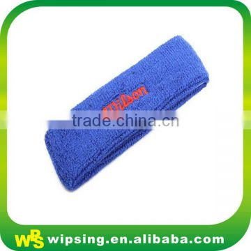 Logo embroidery towelling cotton running headband
