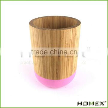 Eco-friendly bamboo utensil holder Homex-BSCI