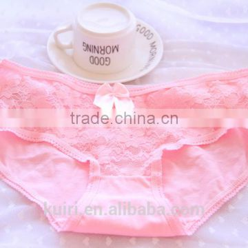 Sexy lace young girl cute panties lady cotton pink underwear E9