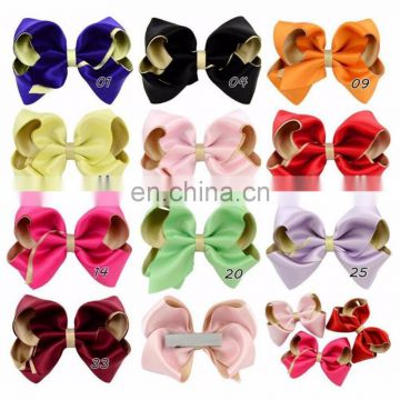Children's Hair Ornament Baby Cloth Hairpin Dacron Double Ribbon Large Bow Hair Clip