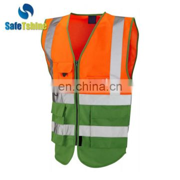 reflective safety orange reflective protective safety vests with pockets