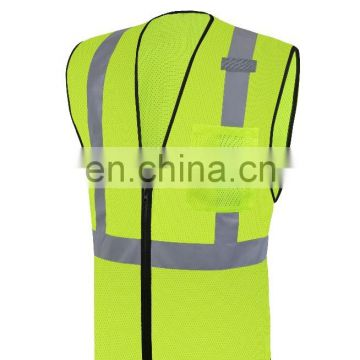 high visibility clothing reflective safety vest red mesh reflective safety clothing 100% polyester fabric