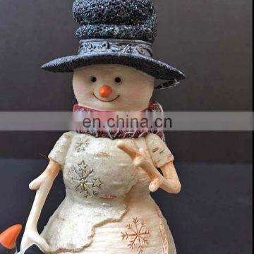 Resin christmas snowman statues